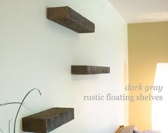 Floating Shelves: Set of 3, Rustic, Reclaimed Barn Wood