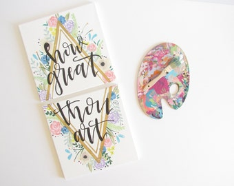 How great thou art | Handpainted Canvases | 12x12 Set