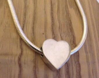 Sterling Silver Heart Bead