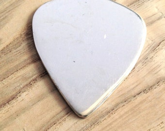 Sterling Silver Guitar Pick Blank - stamping blank - engravable guitar pick