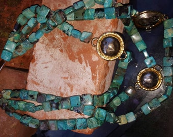 Majestique. Chrysocolla necklace