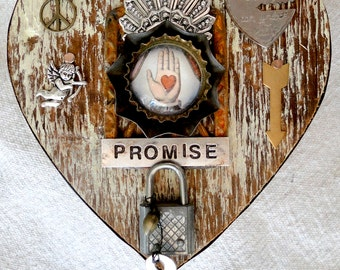 PROMISE – Salvaged Wood Heart