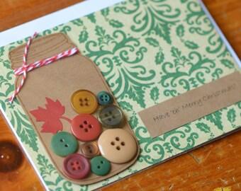 Canadian Christmas Cards, Rustic Style Mason Jar Cards, Christmas Cards featuring Canada, Card Set, Canadiana