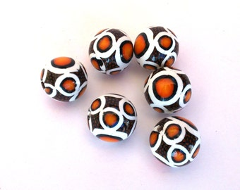 Polymer Clay Beads, Abstract Beads