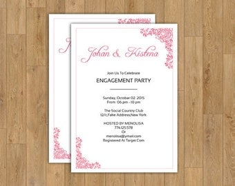 Engagement Party invitation | DIY Engagement Party invitation Template | Instant Download