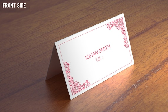 wedding place card template wedding place cards by templatestock