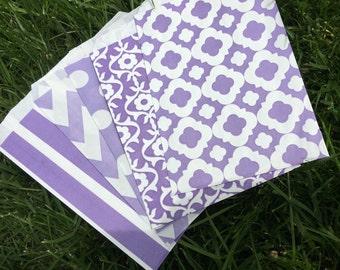 Purple Favor Bags - set of 10