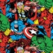 KNIT Fabric: Marvel ® Packed Character Cotton Lycra knit. Sold by the yard