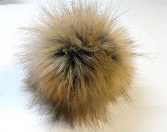Size S, imitation fox fur pom pom 4 inches/11 cm
