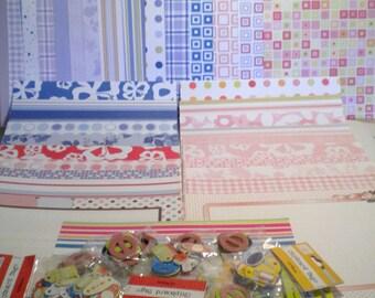 Scrapbooking Paper & Embellishment Lot 2