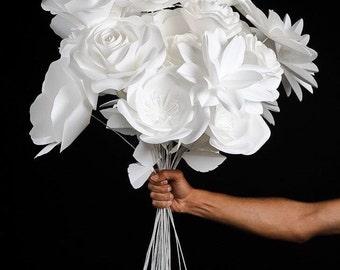 Wedding Reception Decor - Wedding Decor - Wedding Centerpiece - Paper Flower Bouquet - Table Decor