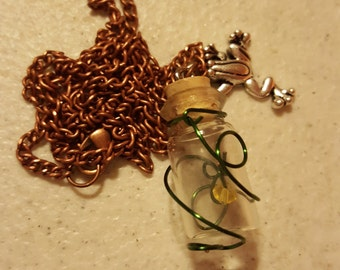 Froggy Love - Glass Bottle Necklace