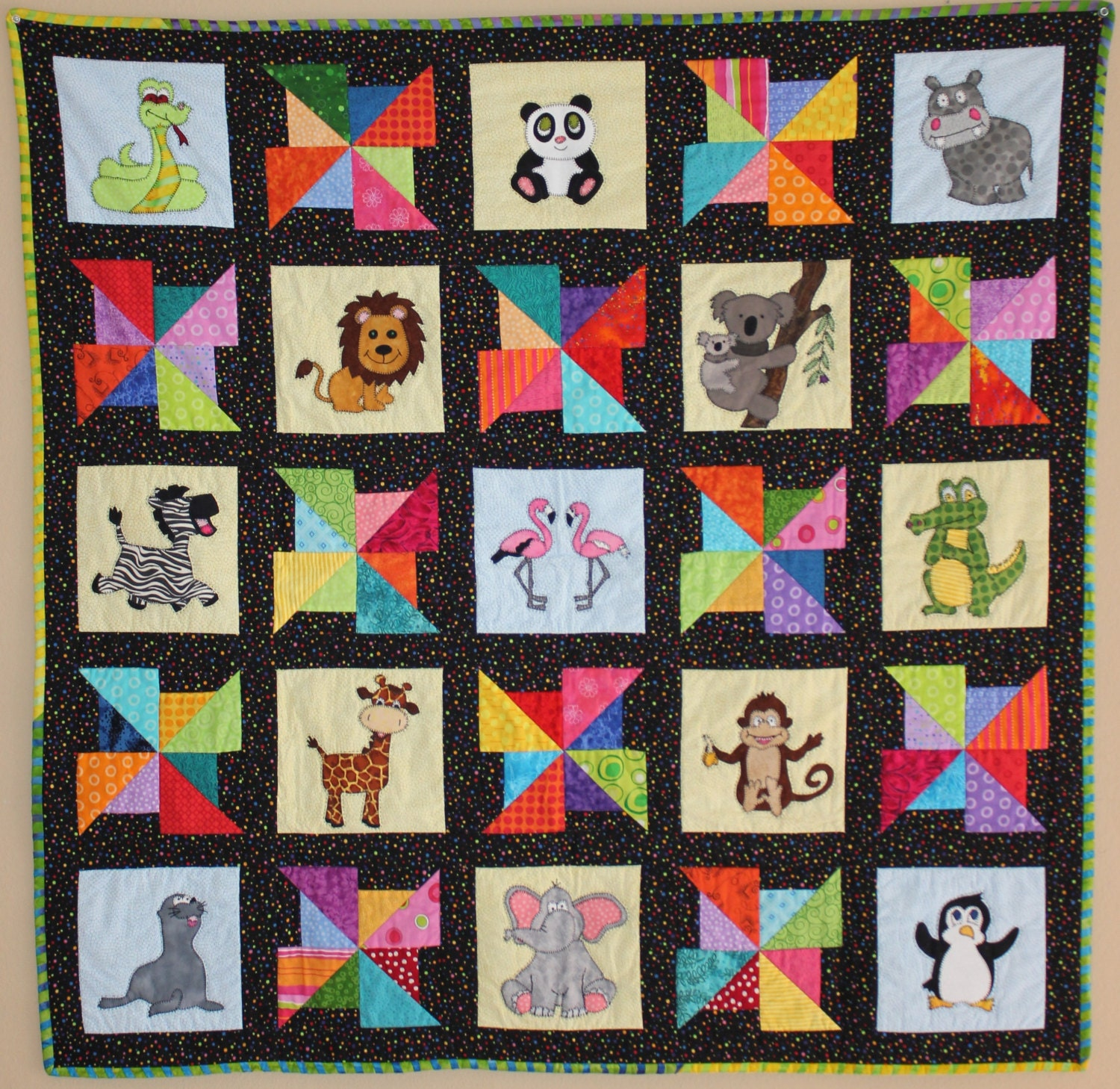Snake Pdf Applique Quilt Pattern Cute Baby Boy Or Child S