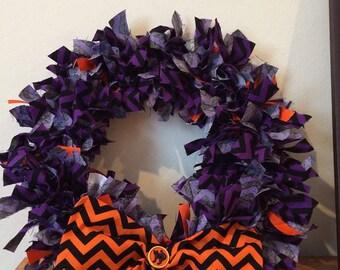Halloween door decoration wreath