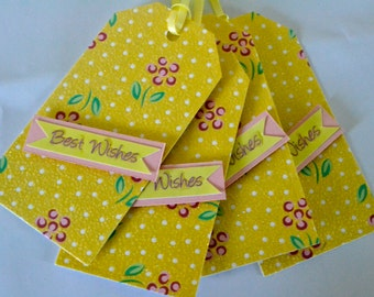 Handmade Best Wishes Gift Tags