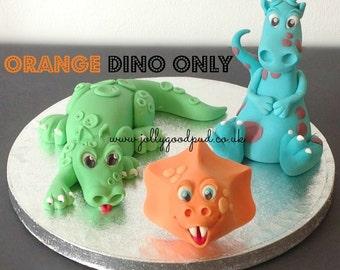 Orange Dinosaur Cake Topper