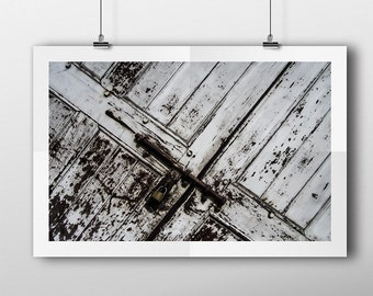 WHITE DOOR photo PRINT, printable photography, minimalist fine art photography, monochrome wall art