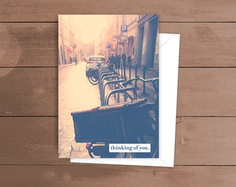 Thinking of You - Bicycle Parking - Greeting card