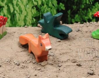 Fox Toy, Wooden Toy, Baby Fox, Toy Animals, Waldorf Toy, Wood Toy, Wooden Animals, Natural, Handmade, Wooden Fox,Waldorf Animal,Eco,Bio toys