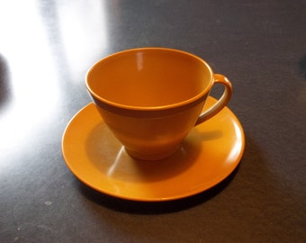 Vintage Lenotex Tea or Coffee Cup with Saucer