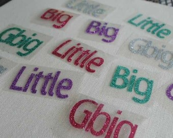 big little frocket diy shirt classic iron on letters big little gbig sorority sister family