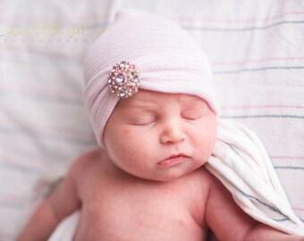 Newborn girl hats, baby girl newborn hat, baby girl hat, girl baby hat, pink and purple hat, newborn girl, newborn hat, girl newborn hat