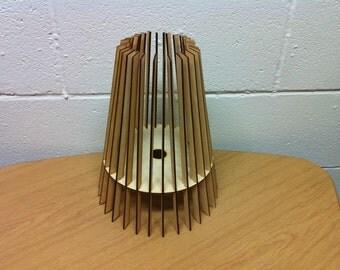 Summit Design Laser Cut Wooden Table Lamp Shade