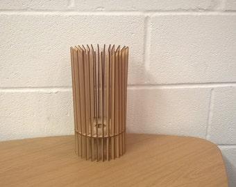 Rush Design Laser Cut Wooden Table Lamp Shade