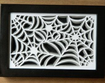 3D Paper Sculpture Cobwebs