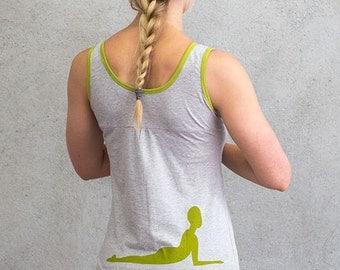 Workout Tank, Yoga Tank, Running Tank, Organic Cotton, Stretch fabric, Exercise Apparel, Activewear, Natural Tone Tank
