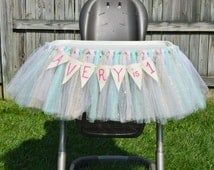 High Chair Tutu, High Chair Skirt, Tutu, Tulle, Birhtday, first birthday, Tutu skirt, Pink and Gold, Pink tutu, Gold tutu, Mint tutu