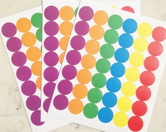 42 adhesive circles set