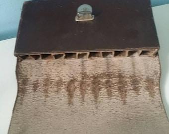 Vintage leather cigar bag