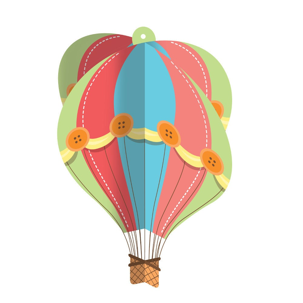 hot air balloon party decorations hot air balloon. Black Bedroom Furniture Sets. Home Design Ideas