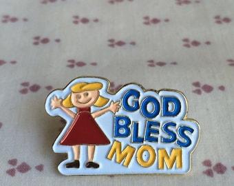 God Bless Mom Pin, Mom pin, God Bless Mom Lapel Pin, Mom Lapel Pin, Mother's Day Lapel pin