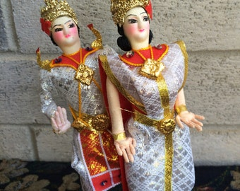 Thailand  Siam Dancer Dolls, Siam Dancer dolls, Thailand decor, Home Decor