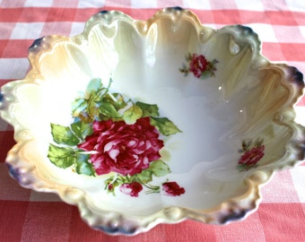 Vintage German Porcelain Serving Bowl