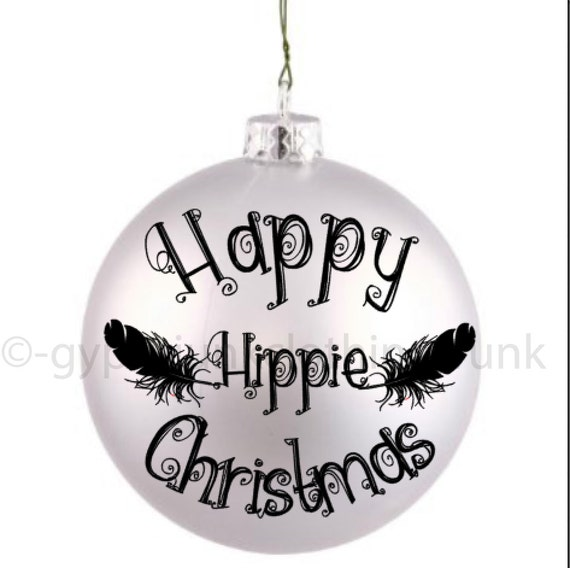 Hippie ornament christmas by gypsyjunkclothing