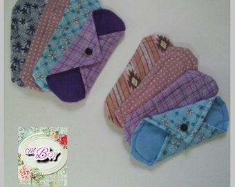8pk reusable pantyliners, budget friendly pack, starter set, light absorbency, cotton liners, thin cotton liners, reusable pantyliners