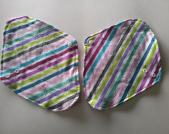 Made on order, flannel cloth pads, reusable, washable, soft, eco friendly, super, 10 inch cloth pads, full coverage, classic shape