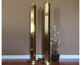 mid century modern brass hexagon floor lamps modern floor lamps brass floor lamp