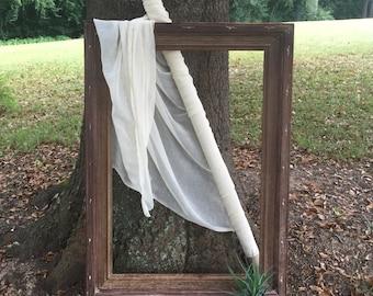 Beautiful Large Distressed Frame / Mirror Frame / Frame Photo Prop