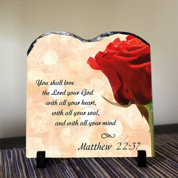 CHRISTIAN DECOR You shall love the Lord your God by
