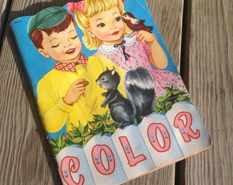 Vintage Children's Coloring Book - late 1930s.