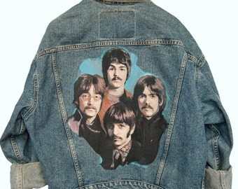 Beatles Custom Painted Denim Jacket