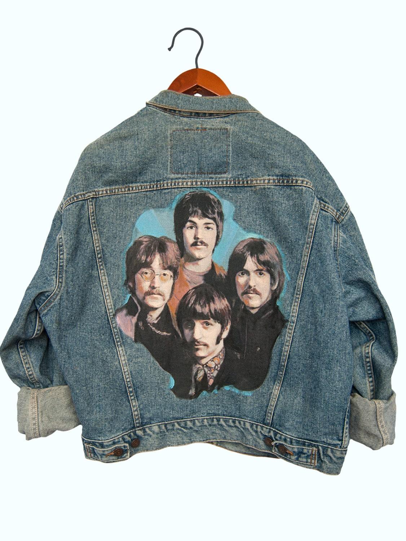 Beatles Custom Painted Denim Jacket By Peacelovesoulandco