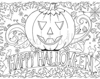 View Coloring Pages By Fleurdoodles On Etsy