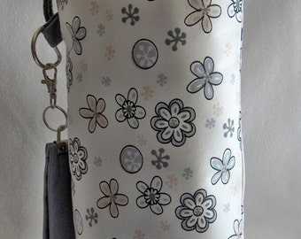SPIN-2015-001 handbag spindle spindle bag drawstring flowers flowers