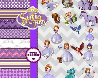 INSTANT DOWLOAD Sofia The Firsth, Clipart Sofia The Firsth, PNG Sofia the Firsth, Sofia The Firsth Images, Digital Papers