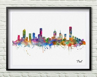 Home Decor Melbourne accessories comely instant amazing home decor melbourne Melbourne Skyline Print Watercolor City Melbourne City Map Wall Art Decor Home Decor Wall Hanging Art